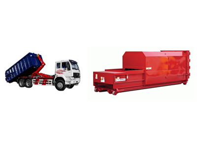 Hook loaders for 20m3 and electric compactor transportation.